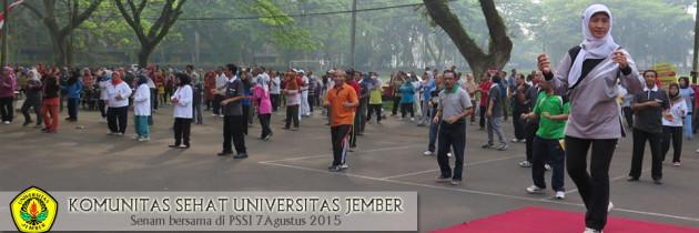 Senam Pagi Bareng di PSSI Universitas Jember