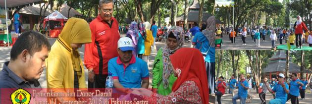 Donor Darah di Senam Komunitas Sehat Universitas Jember