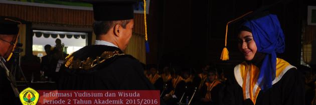 Yudisium dan Wisuda Periode I Tahun Akademik 2015/2016