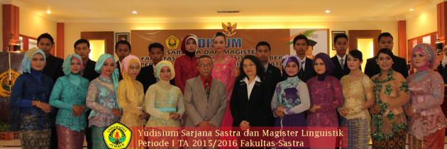 Yudisium Sarjana dan Magister Linguistik Periode I Tahun Akademik 2015/2016