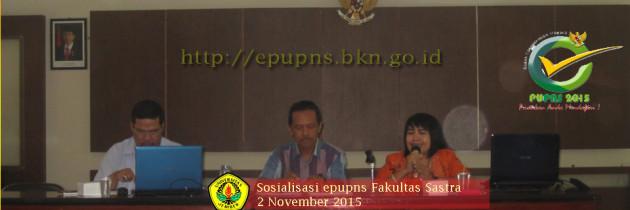 Pembantu Dekan II Fakultas Sastra Sosialisasikan epupns