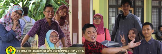 Informasi Beasiswa PPA – BBP Tahun 2016