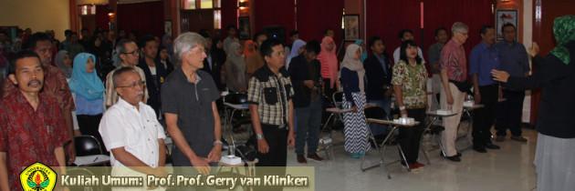 """Kuliah Umum: Prof. Gerry van Klinken """"Menelisik Kelas Menengah di Kota-Kota Menengah"""""""