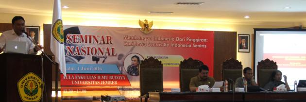 Deputi IV Kepresidenan Paparkan Pembangunan Indonesia Sentris