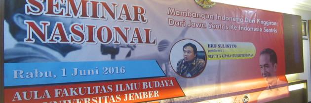 Seminar Nasional: Deputi IV Kepala Staf Kepresidenan