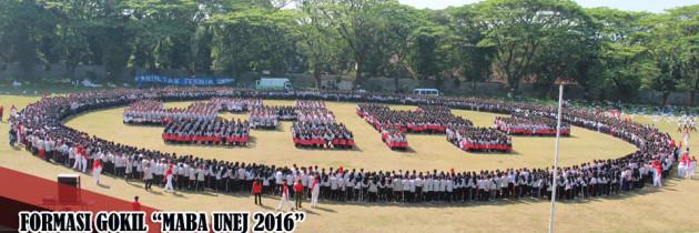 """Mahasiswa Baru 2016 Bentuk Formasi Gokil """"Maba UNEJ 2016"""""""