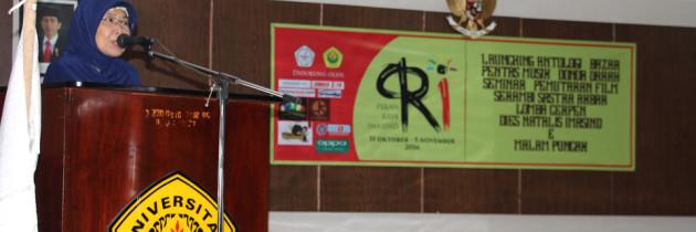 Pekan Raya IMASIND 2016 di Hari Purna Tugas Ketua Jurusan Sastra Indonesia