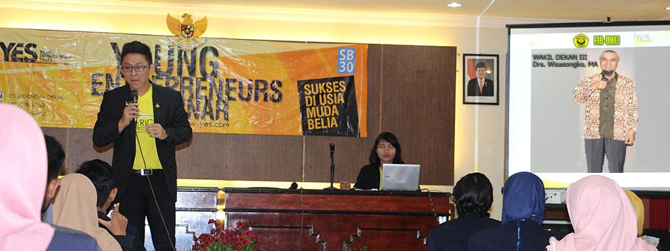 Mahasiswa Fakultas Ilmu Budaya Belajar Kiat Sukses Enterpreneurship