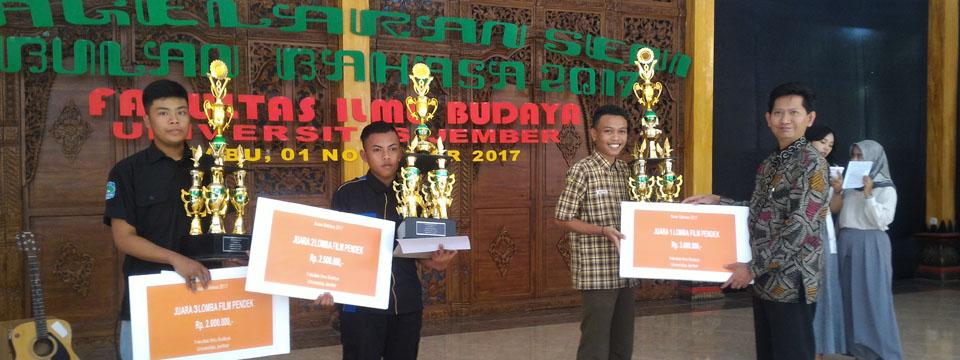 Juara 1 Berhak Mendapat Tiket Masuk Fakultas Ilmu Budaya Universitas Jember